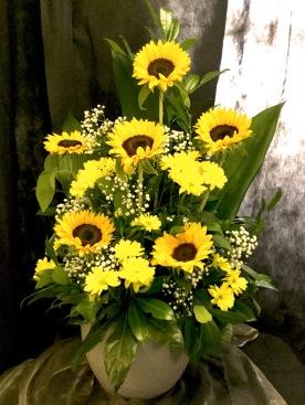 Gesteck Sonnenblume