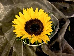 Gesteck klein Sonnenblume