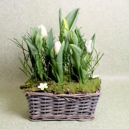 Tulpengesteck Frühling