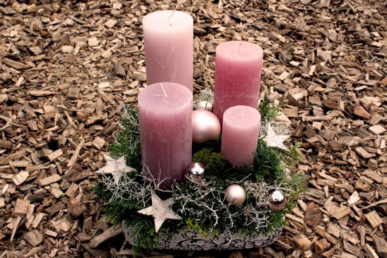 Adventsgesteck rosa : 106.-